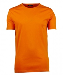 Lemon & Soda shirt heren oranje/wit