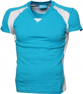 Lemon & Soda shirt Premium dames turquoise/wit