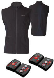 Lenz heated vest with battery 1.0 men's polyamide black