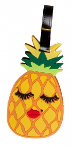 LG-Imports bagagelabel ananas 18 x 8 cm geel