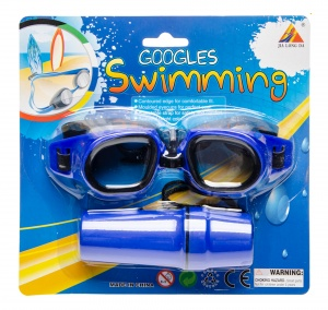 LG-Imports swimming goggles with blue glasses case