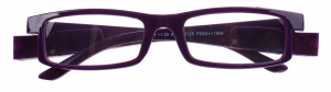 Lifetime-Vision reading glasses with LED lights and case unisex purple