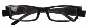 Lifetime-Vision reading glasses with LED lights and case unisex black