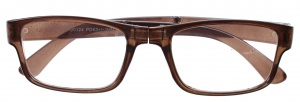 Lifetime-Vision reading glasses foldable unisex brown