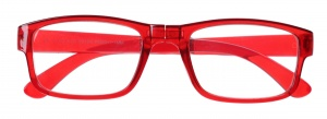 Lifetime-Vision reading glasses foldable unisex red