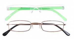 Lifetime-Vision reading glasses unisex green 2 pieces