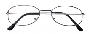 Lifetime-Vision reading glasses silver unisex oval