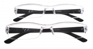 Lifetime-Vision Reading glasses two pieces of unisex
