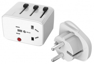 Lifeventure USB-reisadapter 70 mm wit