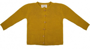 Little Indians cardigan girls cotton yellow