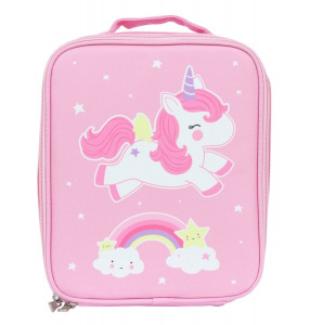 A Little Lovely Company cooler bag Unicorn girls 6 liters polyester pink