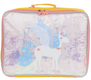A Little Lovely Company valises filles 19,5 litres polyester/PVC jaune/rose