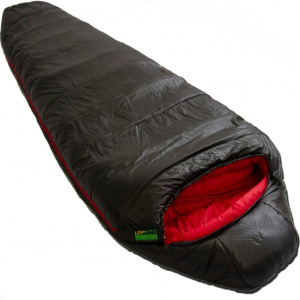 Lowland sleeping bag Pulsar 3 R 230 x 80 cm nylon black/red