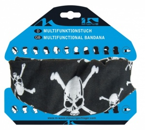 M-Wave Kerchief Multifunctional Black Skull 24 X 48 cm