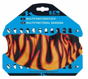 M-Wave Tuch Multifunktions Schwarze Flamme 24 x 48 cm