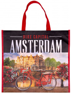 Matix shopper Amsterdam Bike Capital 44 cm nylon red