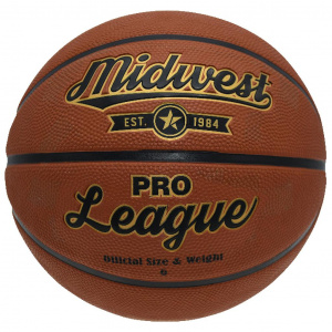 Midwest basketbal Pro League rubber/polyester oranje maat 7