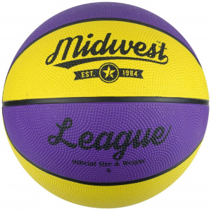 Midwest basketball League rubber paars/geel maat 6