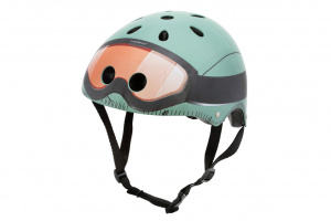 Mini Hornit Lids kinderhelm Military mintgroen