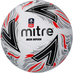 Mitre football Delta FA Cup synthétique blanc/rouge/noir taille 5