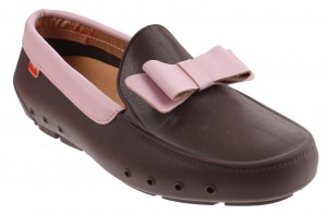Mocks Mocklite Bow walkers ladies dark brown / pink