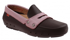 Mocks Mocklite Penny instappers ladies dark brown / pink