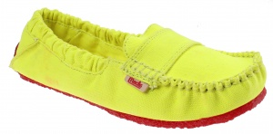 Mocks Saddle Canvas Straps Ladies Yellow