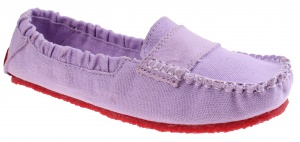 Mocks Saddle Canvas Straps Ladies Purple