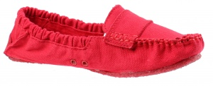 Mocks Saddle Canvas Straps Ladies Red