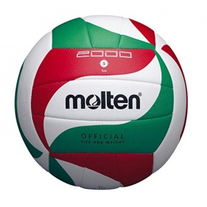 Molten trainingsvolleybal 5M2000 wit/rood/groen maat 5