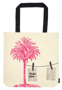 Moses cotton bag Beach set 39 x 42 cm white/pink