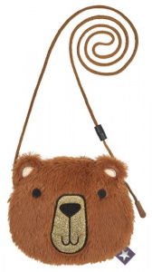 Moses christmas bag teddy bear, 16 x 14 cm, plush, brown