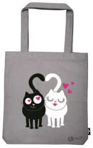 Moses shopper Ed The Cat 42 cm katoen beige