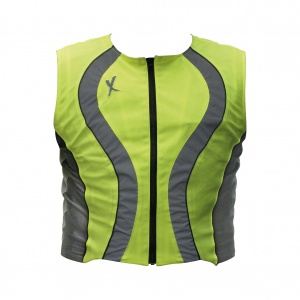 MotorX motor safety vest fluorescent yellow
