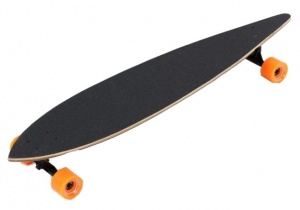 Move Pin tail Longboard Flat 43 Inch beach zwart