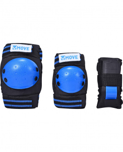 Move skate protection 3-piece basic blue one-size