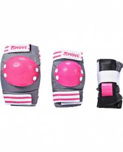 Move protection de patins 3 pièces basic rose taille unique