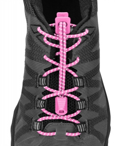Nathan shoelaces reflective pink