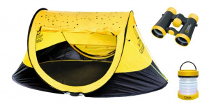 National Geographic outdoorset junior nylon zwart/geel 3-delig