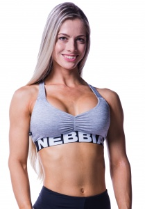 Nebbia sports bra women grey