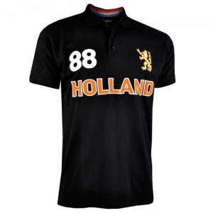 Nederlands polo heren zwart