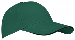 New Port baseballcap Sandwich katoen groen one-size