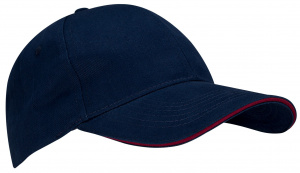 New Port baseballcap Sandwich katoen marineblauw one-size