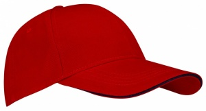 New Port Baseballcap Sandwich rood