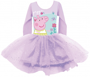 Nickelodeon dress Peppa Pig girls textile purple one-size