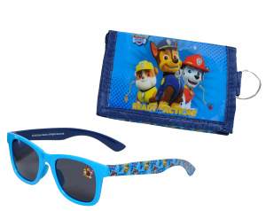 Nickelodeon sunglasses wallet PAW Patrol junior blue 2-piece