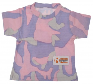 Nihon T-shirt baby Camouflage meisjes paars
