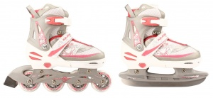 Nijdam skate Combo / patinage rose taille / junior argent 31/34