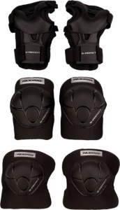 Nijdam Junior Protection Set N-Protect-Schwarze Grösse M