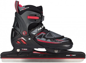 Nijdam patins à glace junior noir/rouge